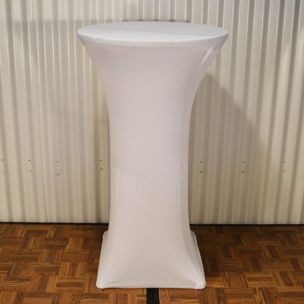 bar table cover white from mia party hire