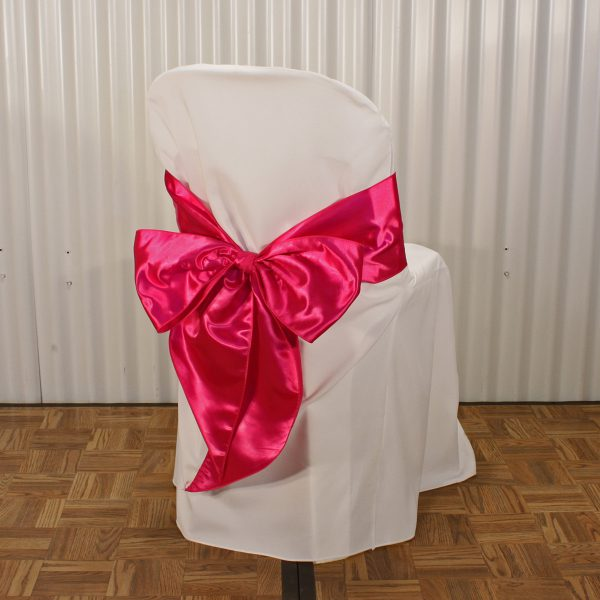 chair sash pink from mia party hire