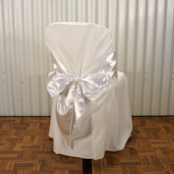 chair sash white from mia party hire