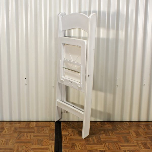chair white folding folded from party hire