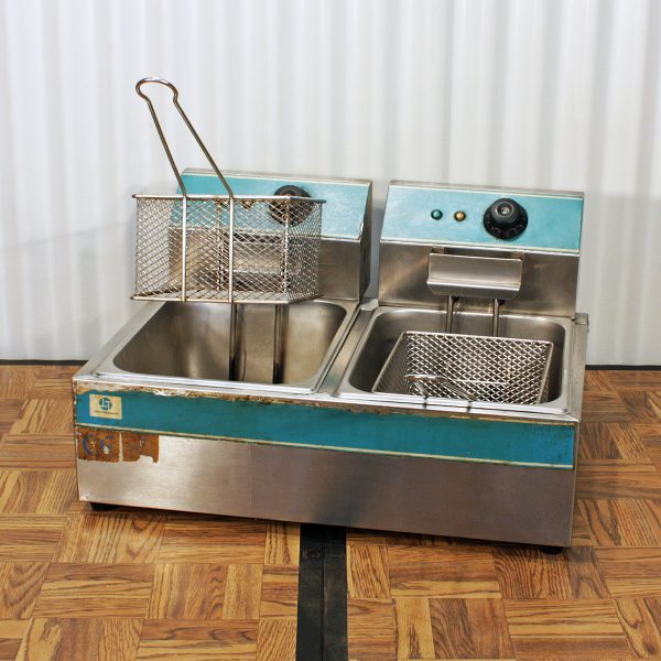 deep fryer electric twin from party hire