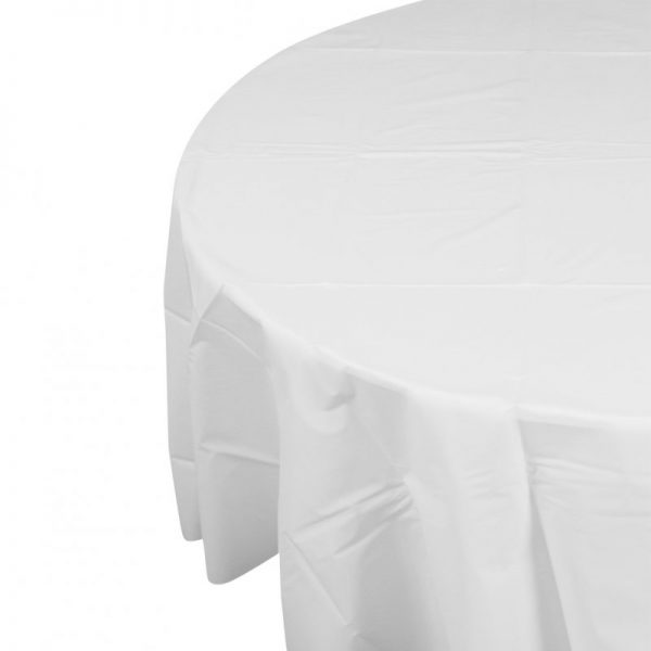 disposable tablecloth round from party hire