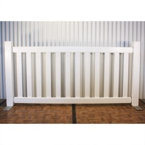 white picket fence panel from party hire