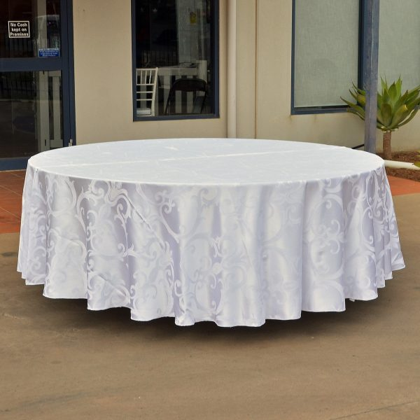 round tablecloth damask from party hire