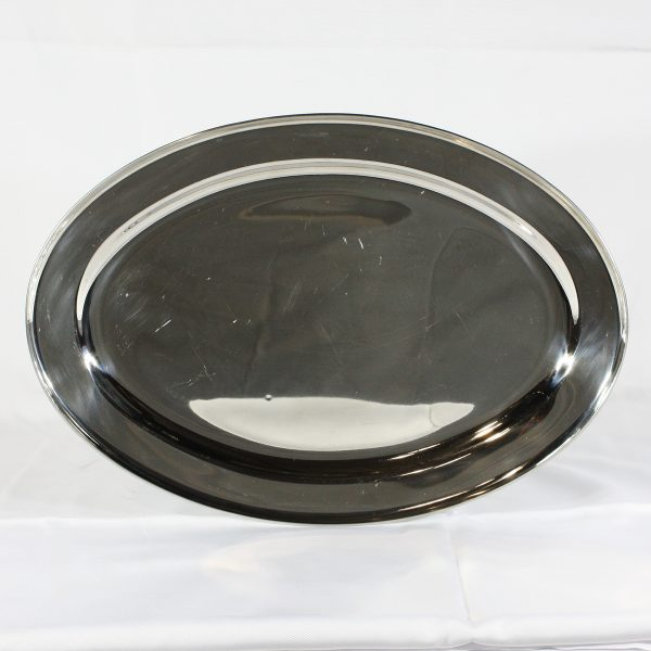stainless platter large from party hire
