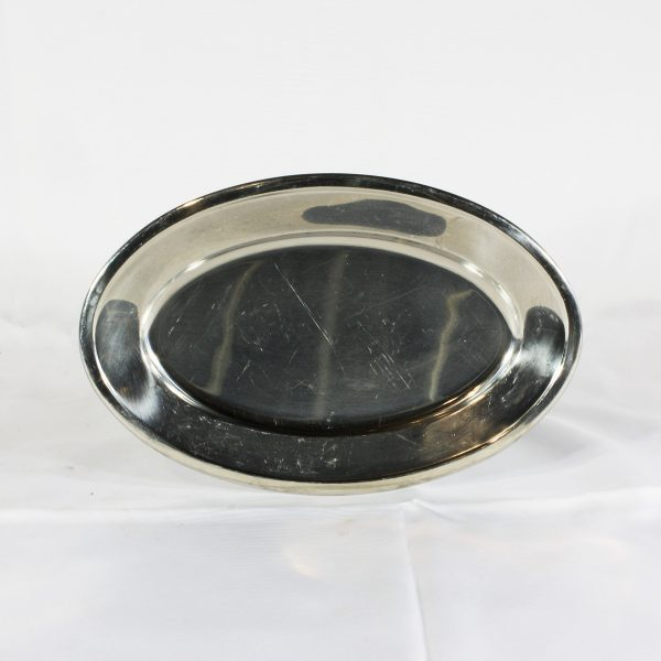 stainless platter small from party hire