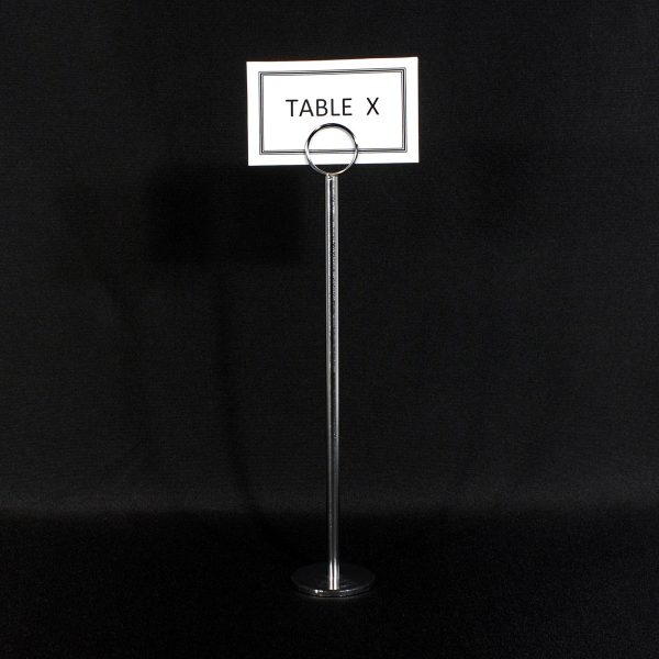 table number holders from party hire