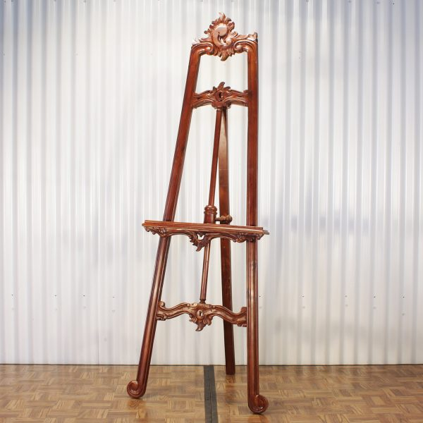 wooden easel from mia party hire
