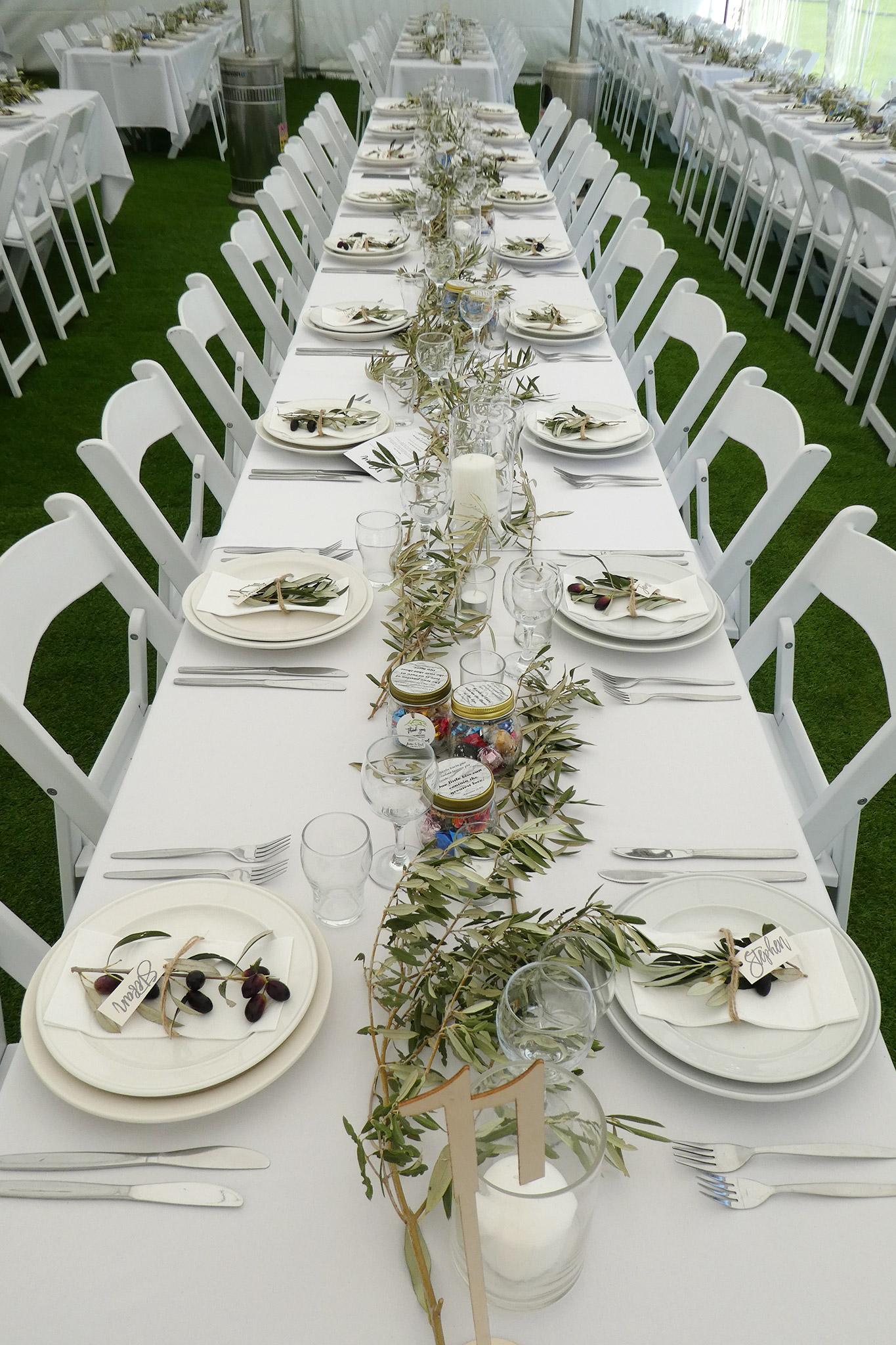 mia party hire silk lining marquee wedding events