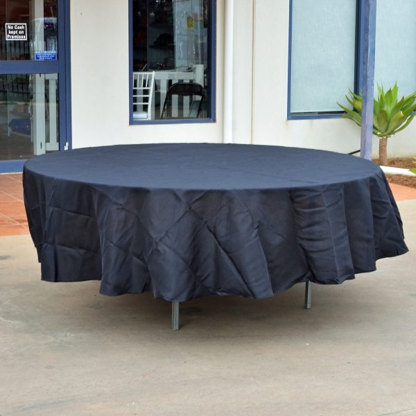 Round Large Tablecloth (Black) -